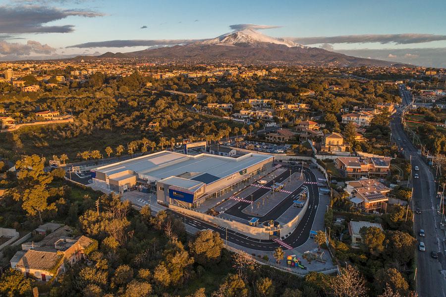 Drone Sicilia centro commerciale Balatelle
