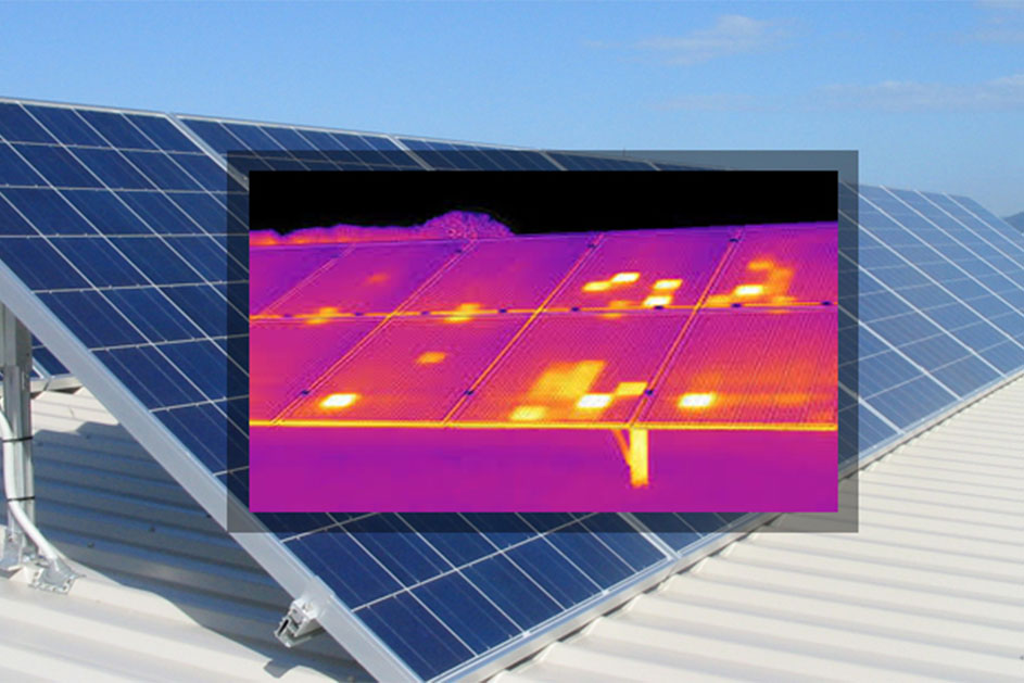 pannelli fotovoltaici termocamera